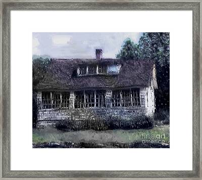 Rainy Day Long Ago House Framed Print by RC deWinter