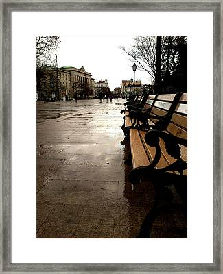 Framed Print featuring the photograph Rainy Day by Lucy D