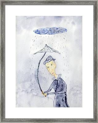 Rainy Day Man Framed Print