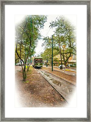 Rainy Day New Orleans Vignette Framed Print by Steve Harrington