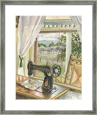 Rainy Day On The Old Farm Framed Print