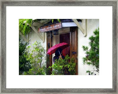 Rainy Day People Framed Print