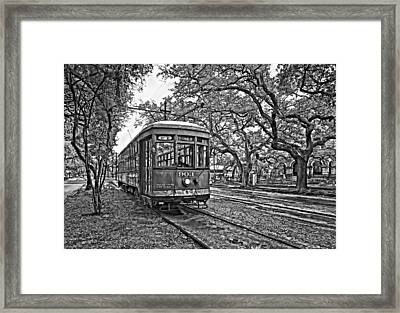 Rainy Day Ridin' Monochrome Framed Print by Steve Harrington