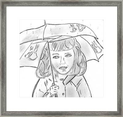 Rainy Day Smile Framed Print by Elizabeth Briggs