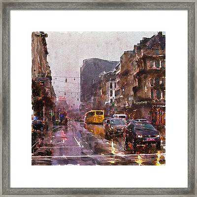 Rainy Day Traffic Framed Print by Marian Voicu
