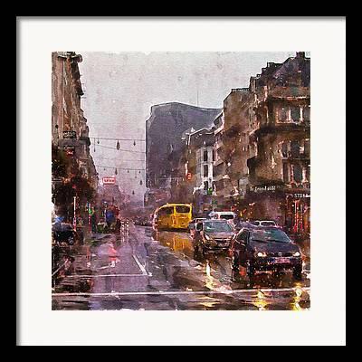 Overcast Day Mixed Media Framed Prints