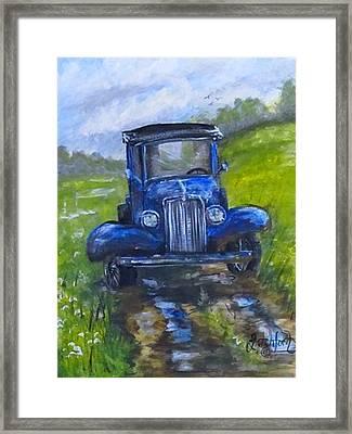 Rainy Day Truck Framed Print by Heather Shertzer