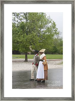 Rainy Day Walk Framed Print by Teresa Mucha