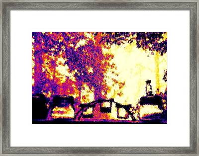 Framed Print featuring the photograph Rainy Day Windowsill by Cleaster Cotton