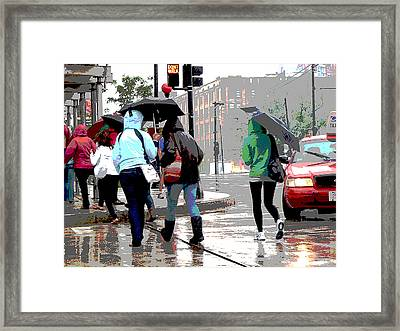 Rainy Daze Framed Print by Barbara McDevitt