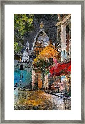 Rainy Evening In Montmartre Framed Print by Dragica  Micki Fortuna