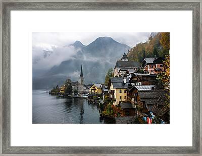 Rainy Hallstatt Framed Print
