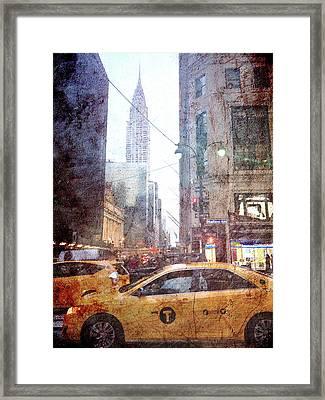 Rainy Madison Avenue Framed Print