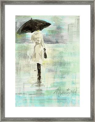 Rainy Monday Framed Print by P J Lewis