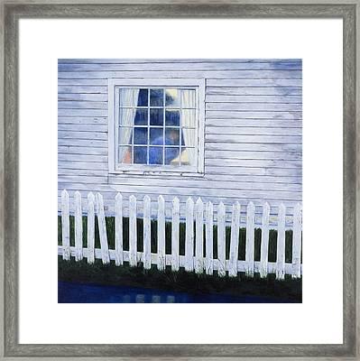 Rainy Morning Blues Framed Print