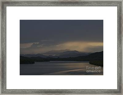 Framed Print featuring the photograph Rainy Morning by Gary Bridger