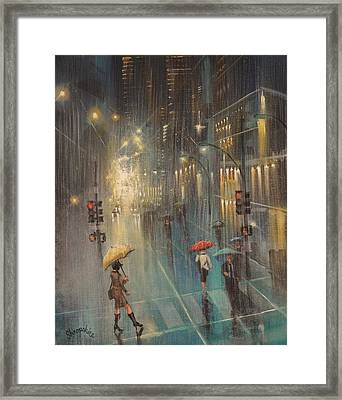 Rainy Night Blues Framed Print