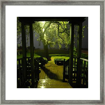 Rainy Night Framed Print
