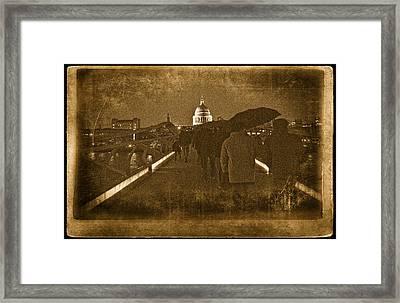 Rainy Night Framed Print by Vessela Banzourkova