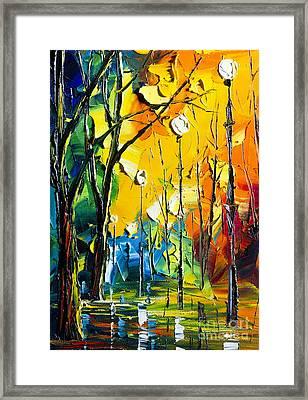 Rainy Night Framed Print by Willson Lau