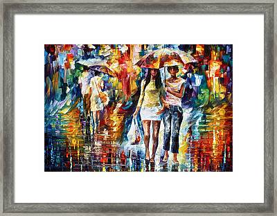 Rainy Shopping Framed Print