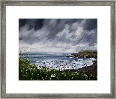 Rainy Springtime In Pacifica Framed Print by Laura Iverson