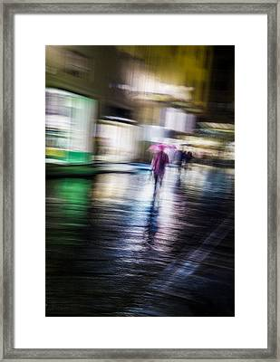 Framed Print featuring the photograph Rainy Streets by Alex Lapidus