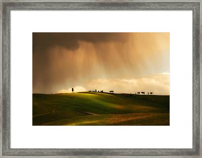 Rainy Sunny Toscany Framed Print by Jaroslaw Blaminsky