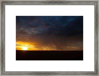 Rainy Sunset  Framed Print by Brandon  Ivey