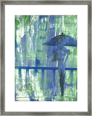 Rainy Thursday Framed Print by P J Lewis