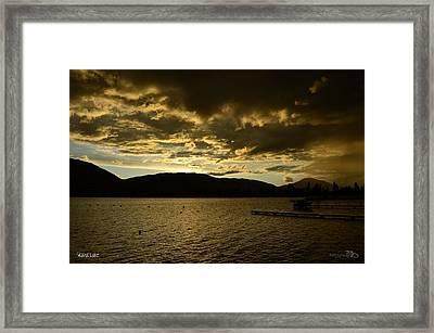Rainysunset - Skaha Lake Framed Print