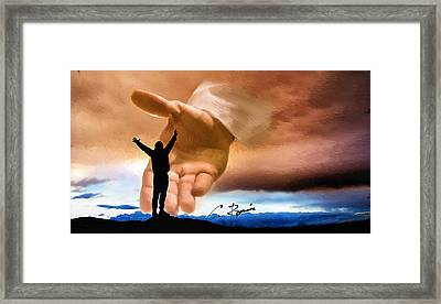 Raise Me Up Jesus Framed Print