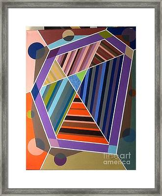 Framed Print featuring the painting Raise Yourself Up by Hang Ho