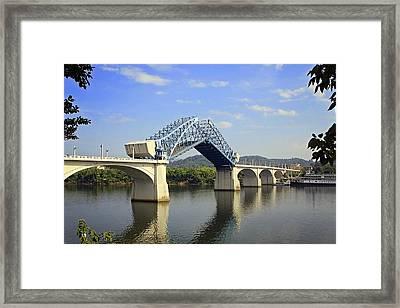 Raising Of The Bridge Framed Print