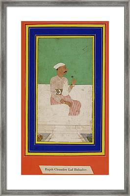 Raja Chandu Lal Framed Print