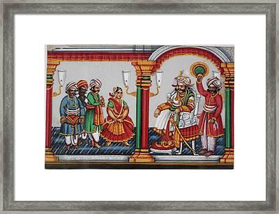 Raja Sarabhoji Of Tanjore Framed Print