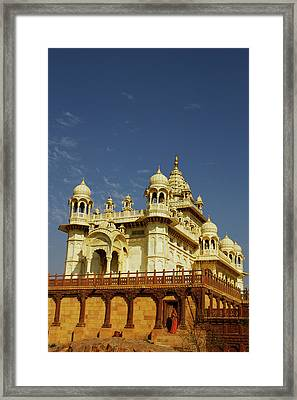 Rajasthan, India A Woman Standing Framed Print by Piper Mackay