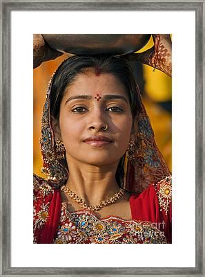 Rajasthani Beauty - Mewar Festival - Udaipur India Framed Print
