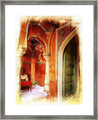 Rajasthani Jewelry India Jaipur Framed Print by Sue Jacobi