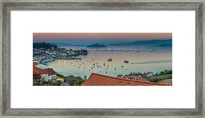 Rajo Panorama From La Granja Galicia Spain Framed Print by Pablo Avanzini