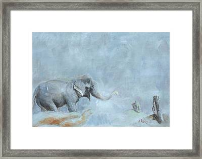 Raju's Celebration Framed Print by Ann Radley