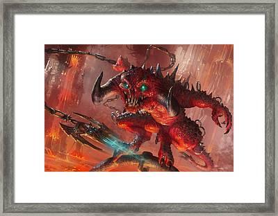 Rakdos Cackler Framed Print by Ryan Barger
