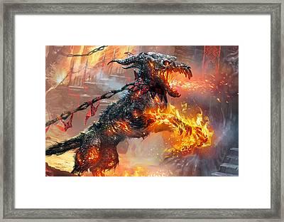 Rakdos Ragemutt Framed Print by Ryan Barger