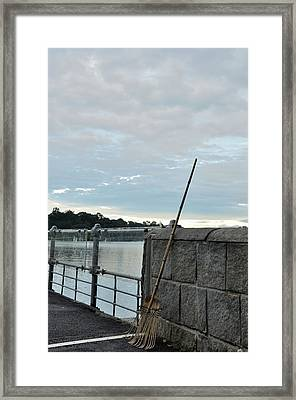 Framed Print featuring the photograph Rake Rests Itself After A Hard Days Work by Imran Ahmed
