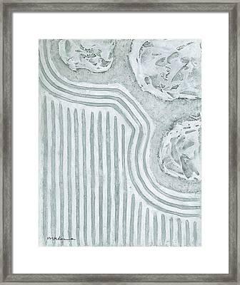 Raked Zen Garden Framed Print