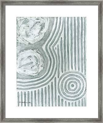 Raked Zen Whirlpool Framed Print