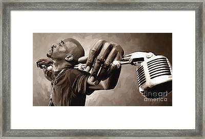 Rakim Artwork Framed Print by Sheraz A