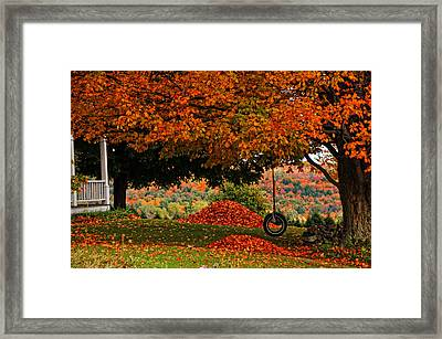 Raking's All Done... Framed Print
