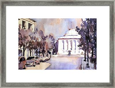 Raleigh Capital- Plein Air Framed Print by Ryan Fox