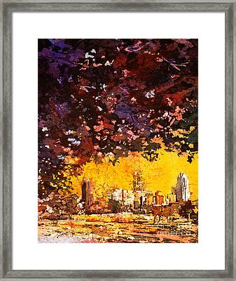 Raleigh Downtown Framed Print by Ryan Fox